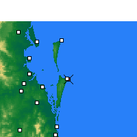 Nearby Forecast Locations - Point Lookout - Carte