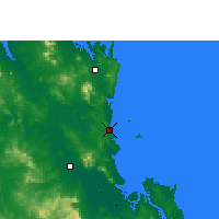 Nearby Forecast Locations - Yeppoon - Carte