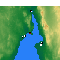 Nearby Forecast Locations - False Bay - Carte