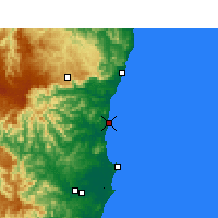 Nearby Forecast Locations - Nambucca Heads - Carte