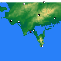 Nearby Forecast Locations - Sandy Point - Carte