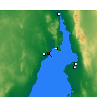 Nearby Forecast Locations - Whyalla - Carte