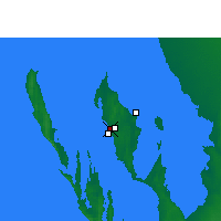 Nearby Forecast Locations - Little Lagoon - Carte