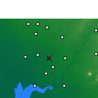 Nearby Forecast Locations - Nadiad - Carte