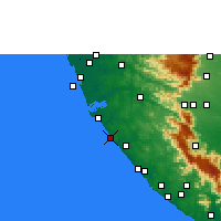 Nearby Forecast Locations - Varkala - Carte
