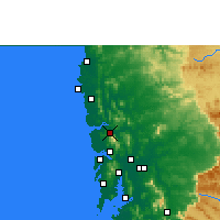 Nearby Forecast Locations - Shirsad - Carte