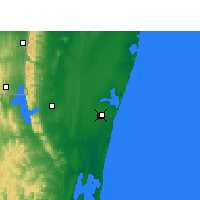 Nearby Forecast Locations - Baie de Sodwana - Carte