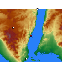 Nearby Forecast Locations - Dahab - Carte