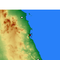 Nearby Forecast Locations - Port Safaga - Carte