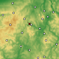 Nearby Forecast Locations - Hohenwarte Reservoir - Carte