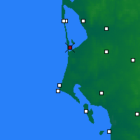 Nearby Forecast Locations - Bork Havn - Carte