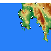 Nearby Forecast Locations - Foinikounta - Carte