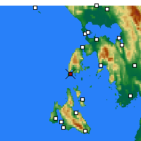 Nearby Forecast Locations - Levkada - Carte