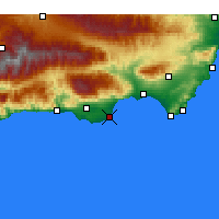 Nearby Forecast Locations - Roquetas de Mar - Carte