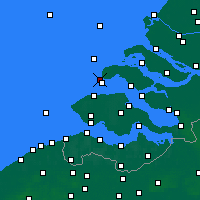 Nearby Forecast Locations - Renesse - Carte