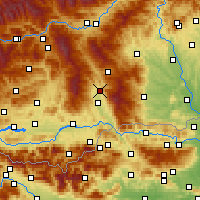 Nearby Forecast Locations - Wolfsberg - Carte