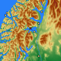 Nearby Forecast Locations - Lac Manapouri - Carte