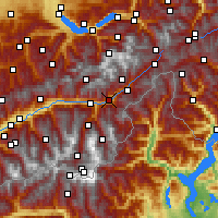 Nearby Forecast Locations - Brigue - Carte