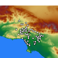 Nearby Forecast Locations - Burbank - Carte
