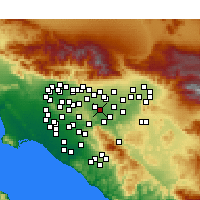 Nearby Forecast Locations - Chino - Carte
