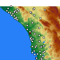 Nearby Forecast Locations - Carlsbad - Carte