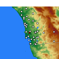 Nearby Forecast Locations - San Diego AP/M - Carte