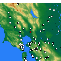 Nearby Forecast Locations - Napa - Carte