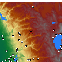 Nearby Forecast Locations - Blue Canyon - Carte
