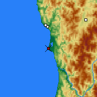 Nearby Forecast Locations - Crescent City - Carte
