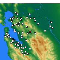 Nearby Forecast Locations - Livermore - Carte