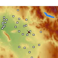 Nearby Forecast Locations - Mesa AFB - Carte