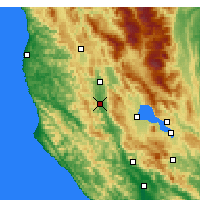 Nearby Forecast Locations - Ukiah - Carte