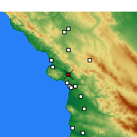Nearby Forecast Locations - San Luis Obispo - Carte