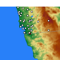 Nearby Forecast Locations - Tijuana - Carte