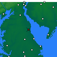 Nearby Forecast Locations - Dover - Carte