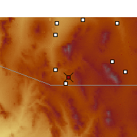 Nearby Forecast Locations - Nogales - Carte