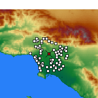 Nearby Forecast Locations - Downtown Los Angeles - Carte
