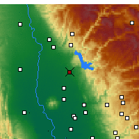 Nearby Forecast Locations - Oroville - Carte