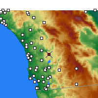 Nearby Forecast Locations - Ramona - Carte