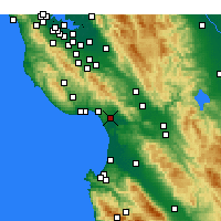 Nearby Forecast Locations - Watsonville - Carte