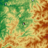 Nearby Forecast Locations - Roseburg - Carte