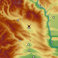 Nearby Forecast Locations - Ellensburg - Carte
