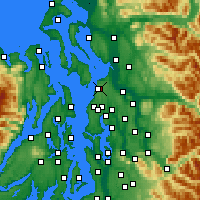 Nearby Forecast Locations - Everett - Carte