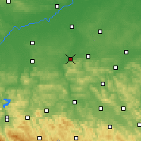 Nearby Forecast Locations - Dębica - Carte
