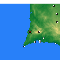 Nearby Forecast Locations - Aljezur - Carte