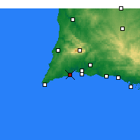 Nearby Forecast Locations - Lagos - Carte