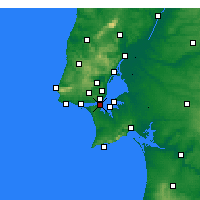 Nearby Forecast Locations - Almada - Carte