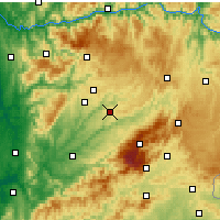 Nearby Forecast Locations - Mangualde - Carte