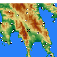 Nearby Forecast Locations - Sparte - Carte