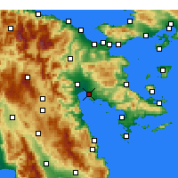 Nearby Forecast Locations - Nauplie - Carte